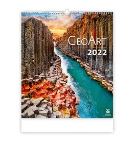 Helma C265-22 Kalpa Wandkalender 2022 Geo kunst 45 x 52 cm