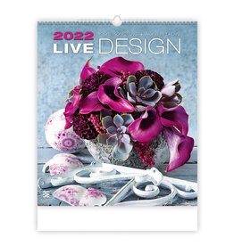 Helma C260-22 Kalpa Wandkalender 2022 Levendig Design 45 x 52 cm