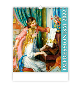 Helma C255-22 Kalpa Wall Calendar 2022 Impressionism Calendar 45 x 52 cm