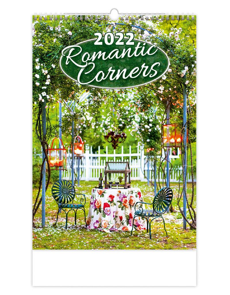 Helma Kalpa Wall Calendar 2022 Romantic Corners Calendars 31.5 x 45 cm
