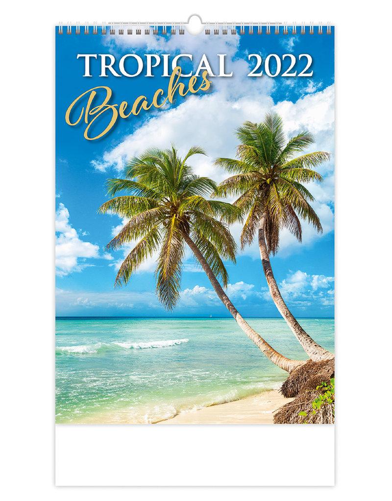 Helma Kalpa Wandkalender 2022 Tropische stranden 31.5 x 45 cm