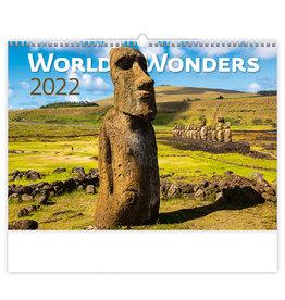 Helma C134-22 Kalpa Wandkalender 2022 Wereld wonderen 45 x 31.5 cm
