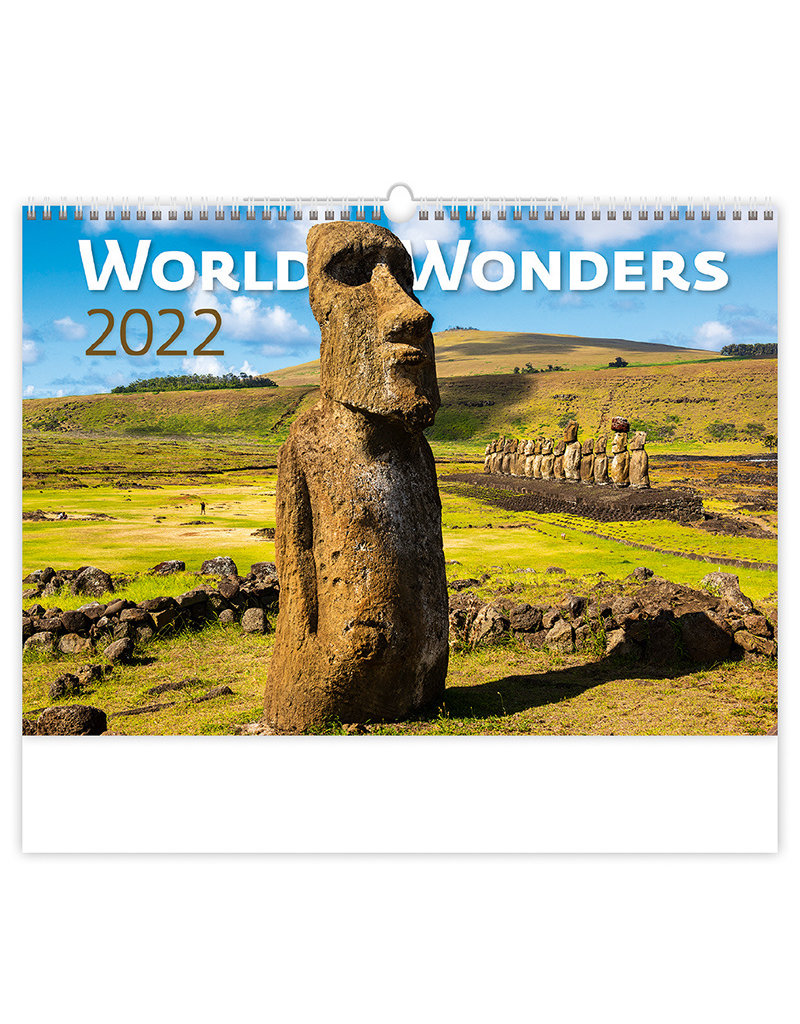 Helma C134-22 Kalpa Wandkalender 2022 Wereld wonderen 45 x 31.5 cm   cm