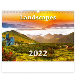 Helma C128-22 Kalpa Wandkalender 2022 Landschappen 45 x 31.5 cm