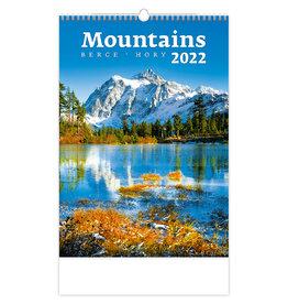 Helma C126-22 Wall Calendar Mountains 2022