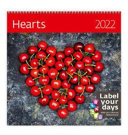 Helma CA09-22 Calendar 30 x 30 cm Hearts