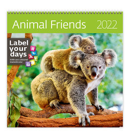 Helma CA04-22 Calendar 30 x 30 cm Animal Friends