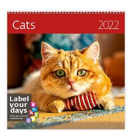 Helma CA01-22 Kalender 30 x 30 cm Katten