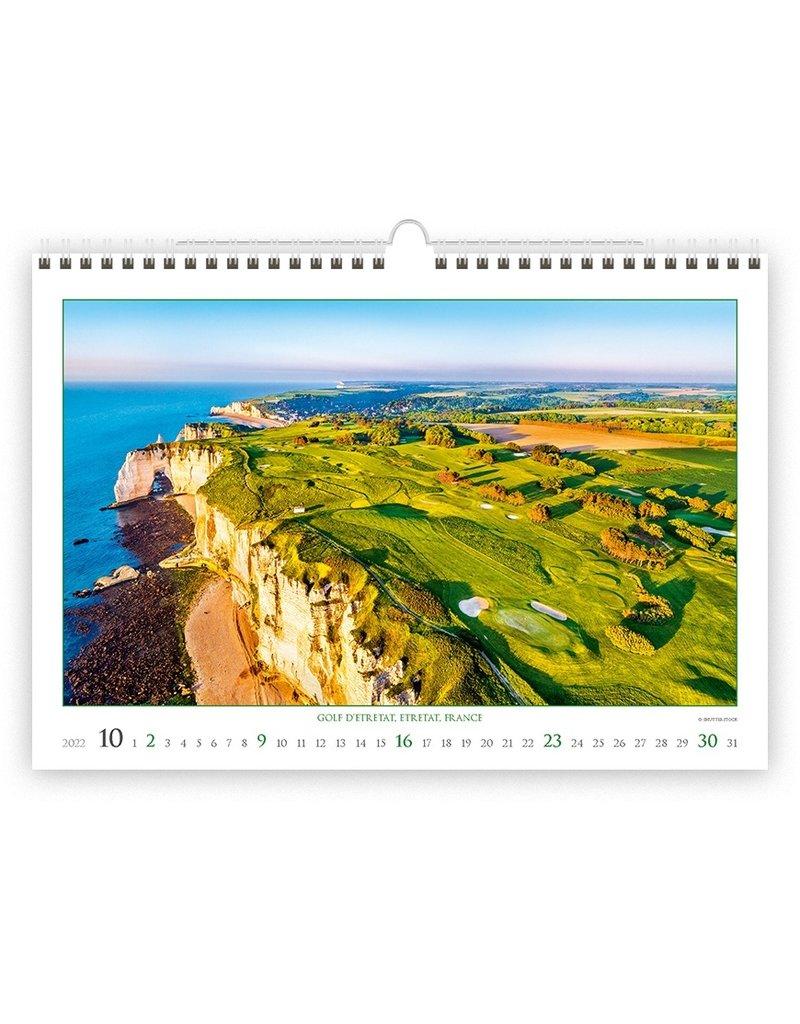Helma C271-22 Kalpa Wall Calendar 2022 Golf Calendar 48.5 x 34 cm.| Calendar 2022