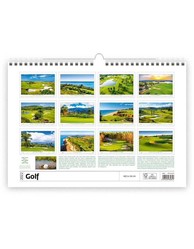 Helma C271-22 Kalpa Wandkalender 2022 Golf 48.5 x 34 cm