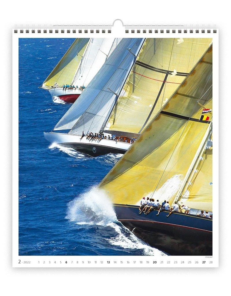 Helma Kalpa Wall Calendar 2022 Sailing Calendar 45 x 52 cm