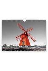 Helma C267-22 Kalpa Wandkalender 2022 Zwart en Rood 48.5 x 34 cm