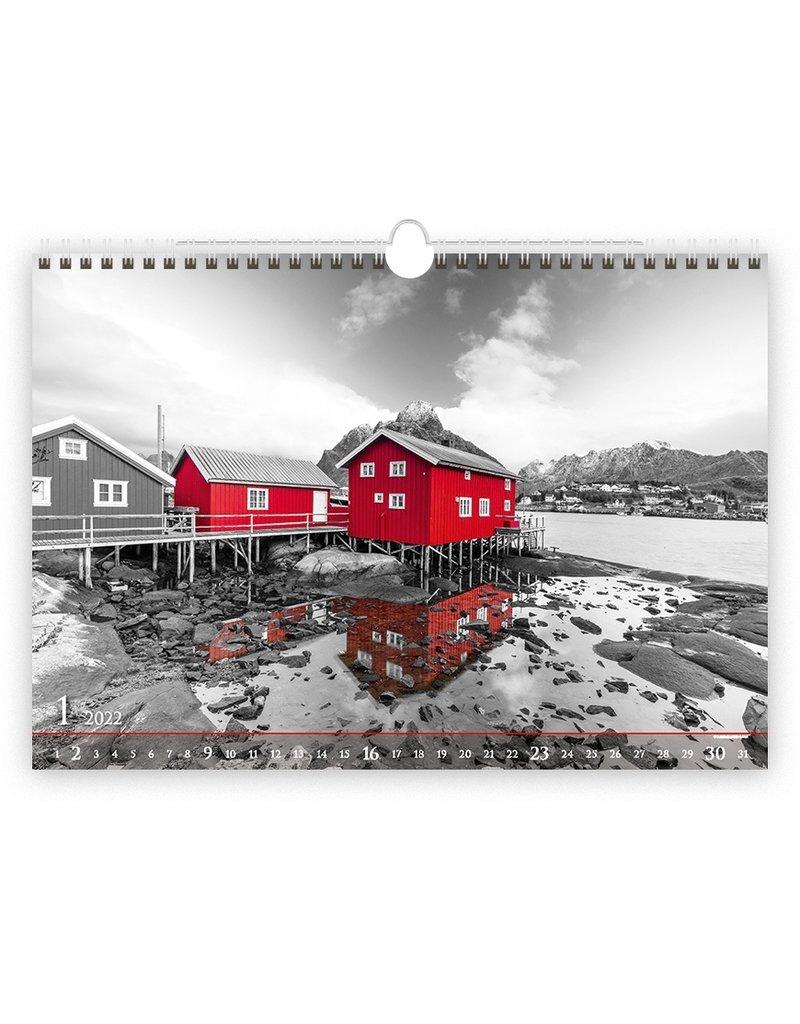 Helma Zwart en Rood 2022 Kalpa Wandkalender