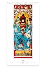 Helma Kalpa Wall Calendar 2022 Mucha Calendar 31.5 x 63 cm