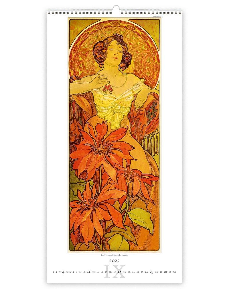 Helma C259-22 Kalpa Wandkalender 2022 Mucha 31.5 x 63 cm