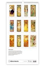 Helma C259-22 Kalpa Wall Calendar 2022 Mucha Calendar 31.5 x 63 cm