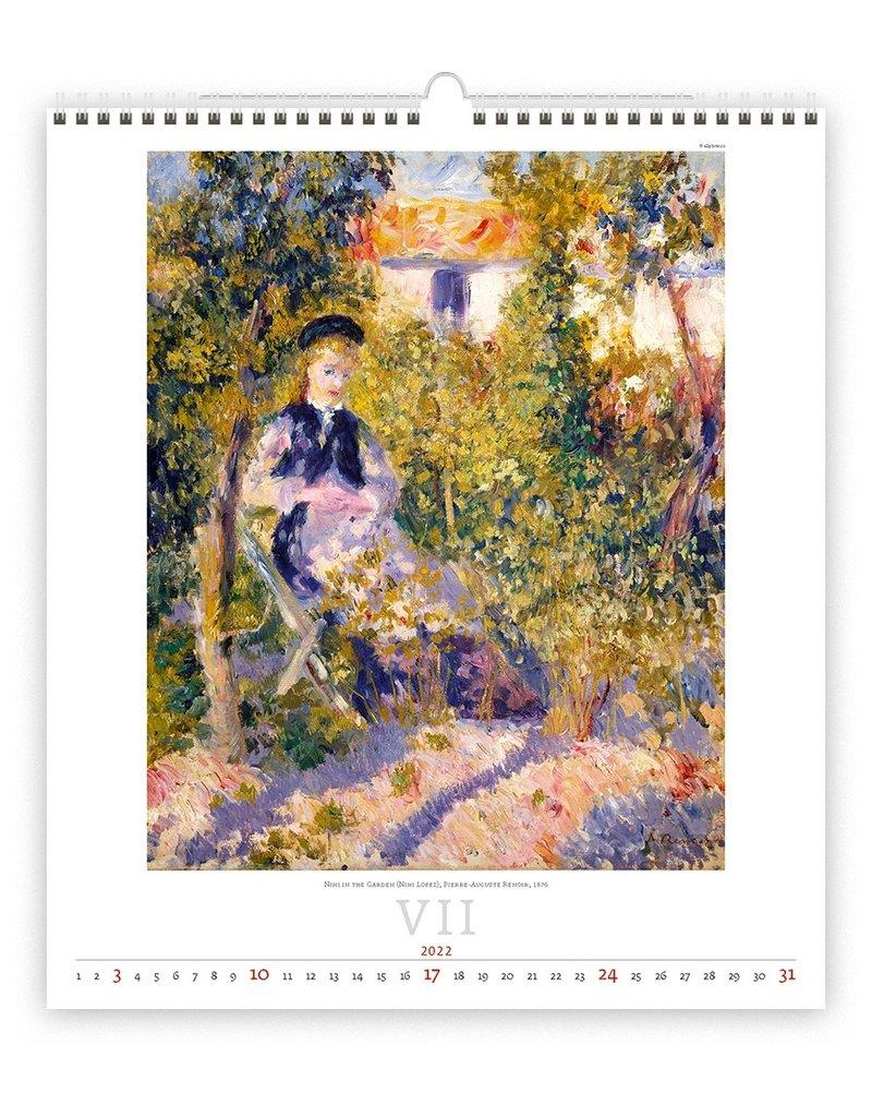 Helma Kalpa Wall Calendar 2022 Impressionism Calendar 45 x 52 cm