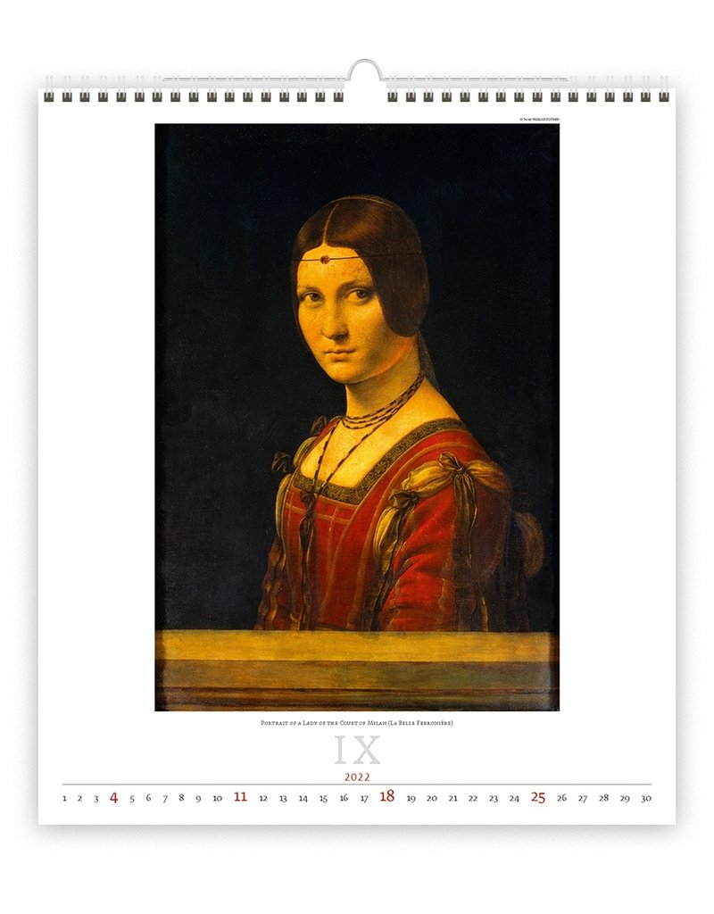 Helma C251-22 Kalpa Wall Calendar 2022 Leonardi da Vinci 45 x 52 cm
