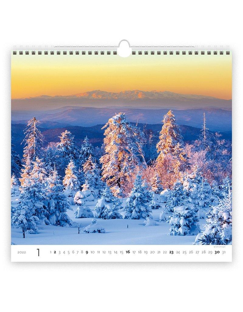 Helma C165-22 Kalpa Wall Calendar 2022 Forest Calendars 34 x 32.5 cm | Calendar 2022