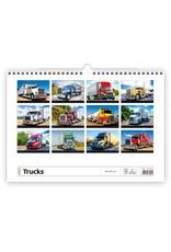 Helma C155-22 Kalpa Wandkalender 2022 Vrachtwagens 45 x 32 cm