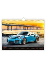 Helma C153-22 Kalpa Wall Calendar 2022 Cars Calendars 45 x 31.5 cm