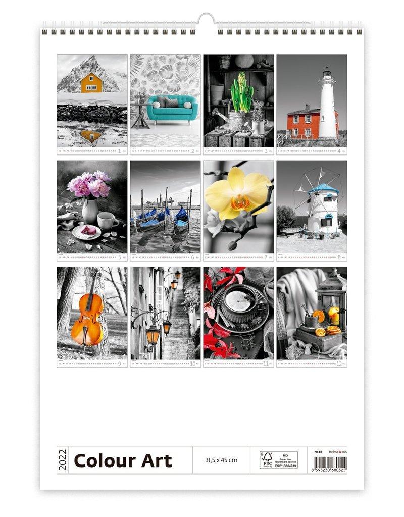 Helma Kalpa Wall calendar 2022 Colour art 31.5 x 45 cm