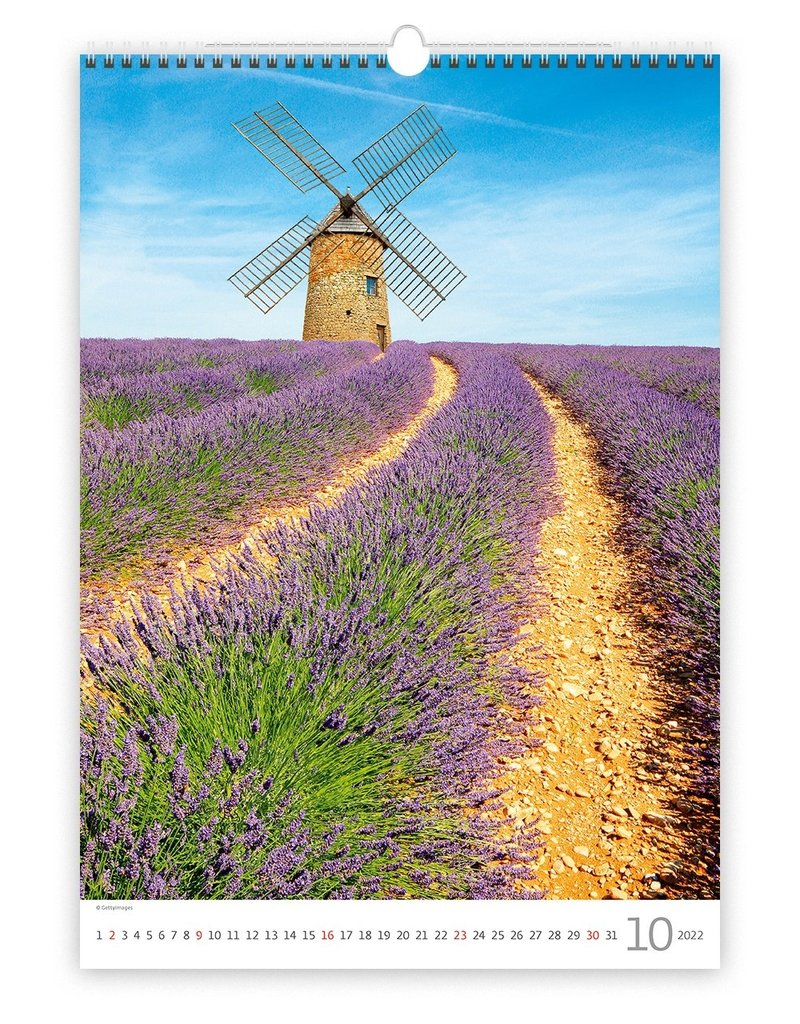 Helma Kalpa Wandkalender 2022 Provence 31.5 x 45 cm