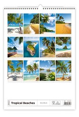 Helma Kalpa Wall Calendar 2022 Tropical beaches 31.5 x 45 cm