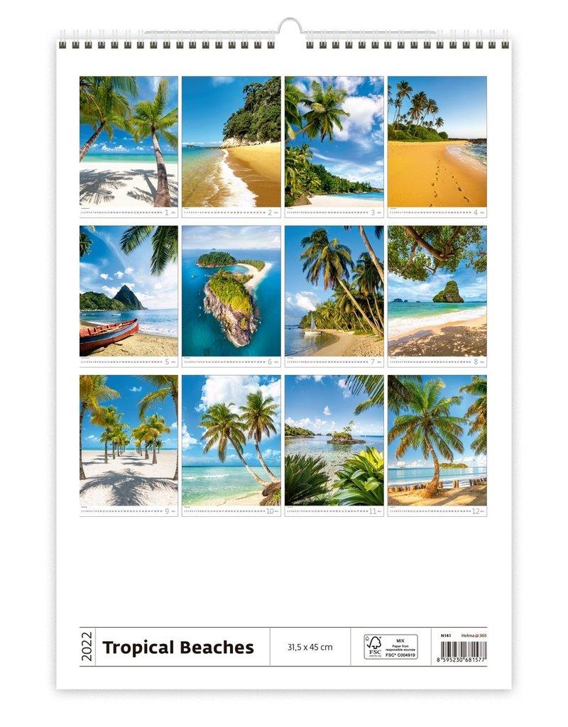 Helma C141-22 Kalpa Calendar 2022 Tropical beaches 31.5 x 45 cm
