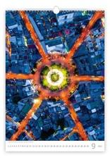 Helma C137-22 Kalpa Wall Calendar 2022 World from Above 31.5 x 45 cm
