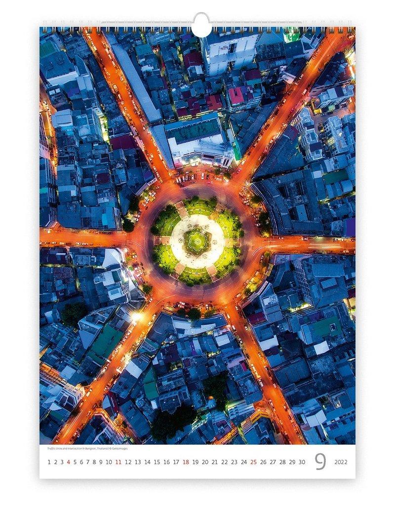Helma Kalpa Wall Calendar 2022 World from Above 31.5 x 45 cm