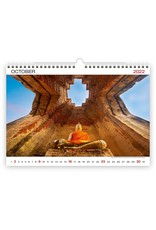 Helma Kalpa Wandkalender 2022 Wereld wonderen 45 x 31.5 cm