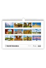Helma Kalpa Wall Calendar 2022 World Wonders Calendar 45 x 31.5 cm | Calendar 2022