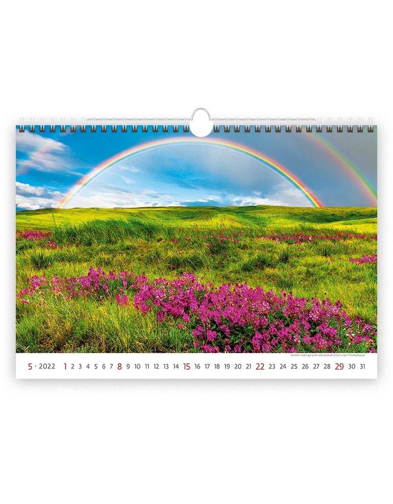 Helma C128-22 Kalpa Wall Calendar 2022 Landscapes Calendars 45 x 31.5 cm