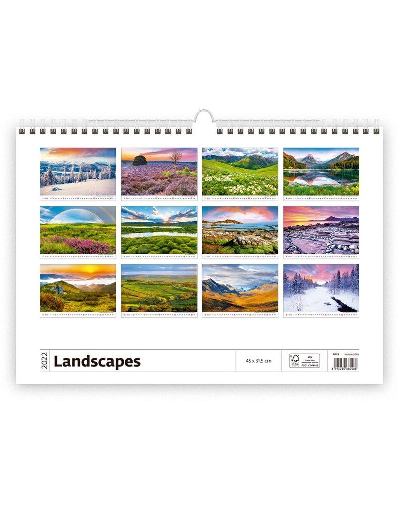 Helma Kalpa Wall Calendar 2022 Landscapes Calendars 45 x 31.5 cm