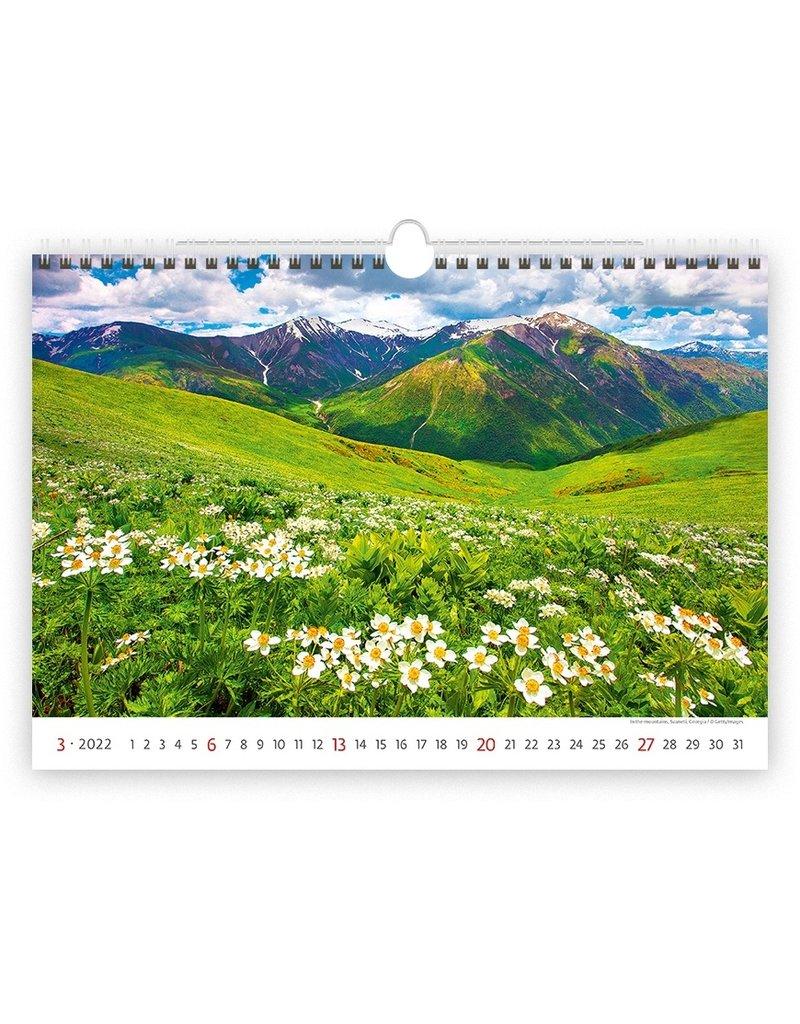 Helma Kalpa Wandkalender 2022 Landschappen 45 x 31.5 cm