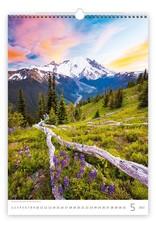 Helma C126-22 Kalpa Wall Calendar 2022 Mountains Calendars 31.5 x 45 cm   Calendar 2022
