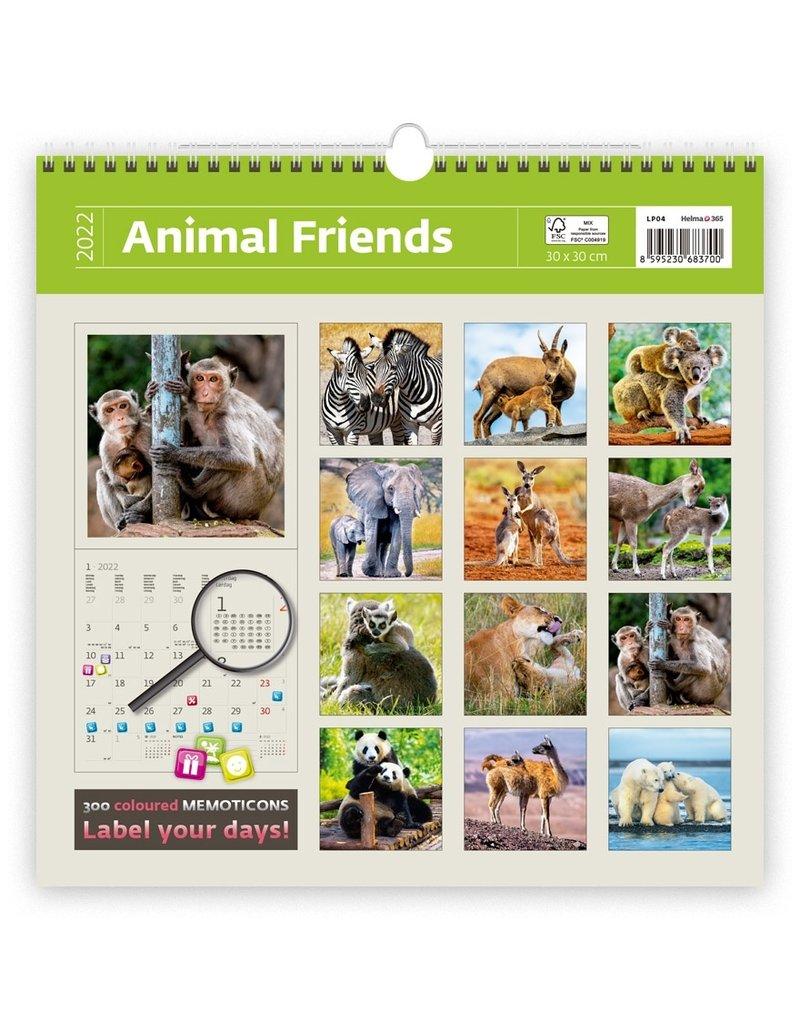 Helma Kalpa kalender 30 x 30 cm Dierenvrienden