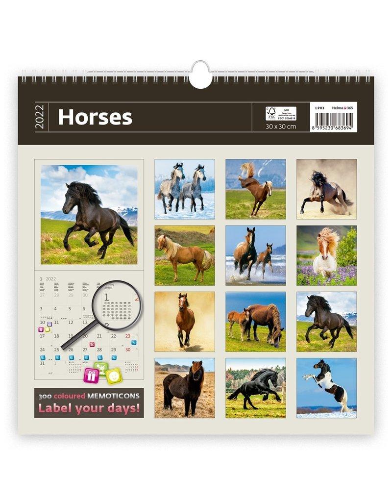 Helma Kalpa calendar 30 x 30 cm Horses