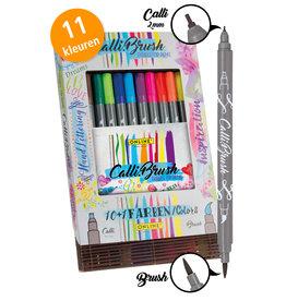 ONLINE Schreibgeräte 19045 11 Calli.Brush pennen dubbele punt in bamboe doos