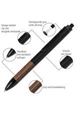 ONLINE Schreibgeräte Multifunctionele pen Kastanje in Bamboo Pen Box