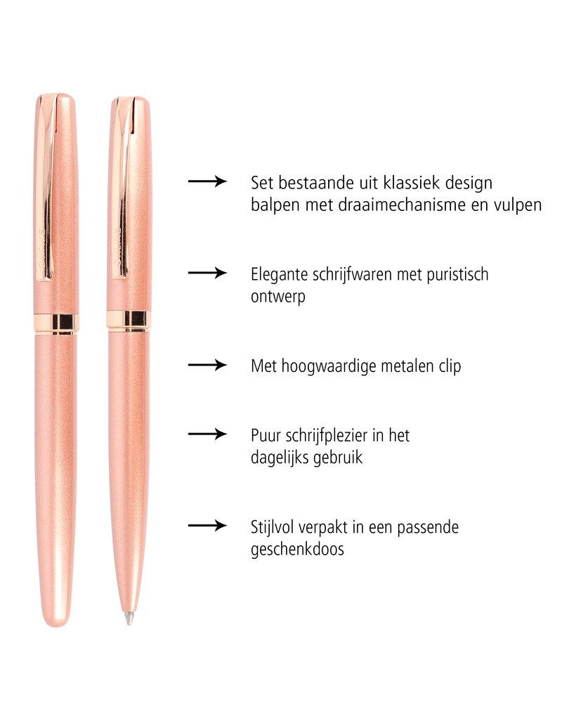 ONLINE Schreibgeräte Set fountain pen/ballpen Rose Style
