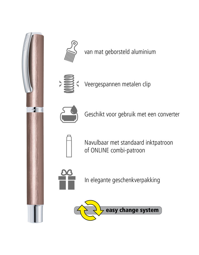 ONLINE Schreibgeräte Fountain pen Smokey Rose