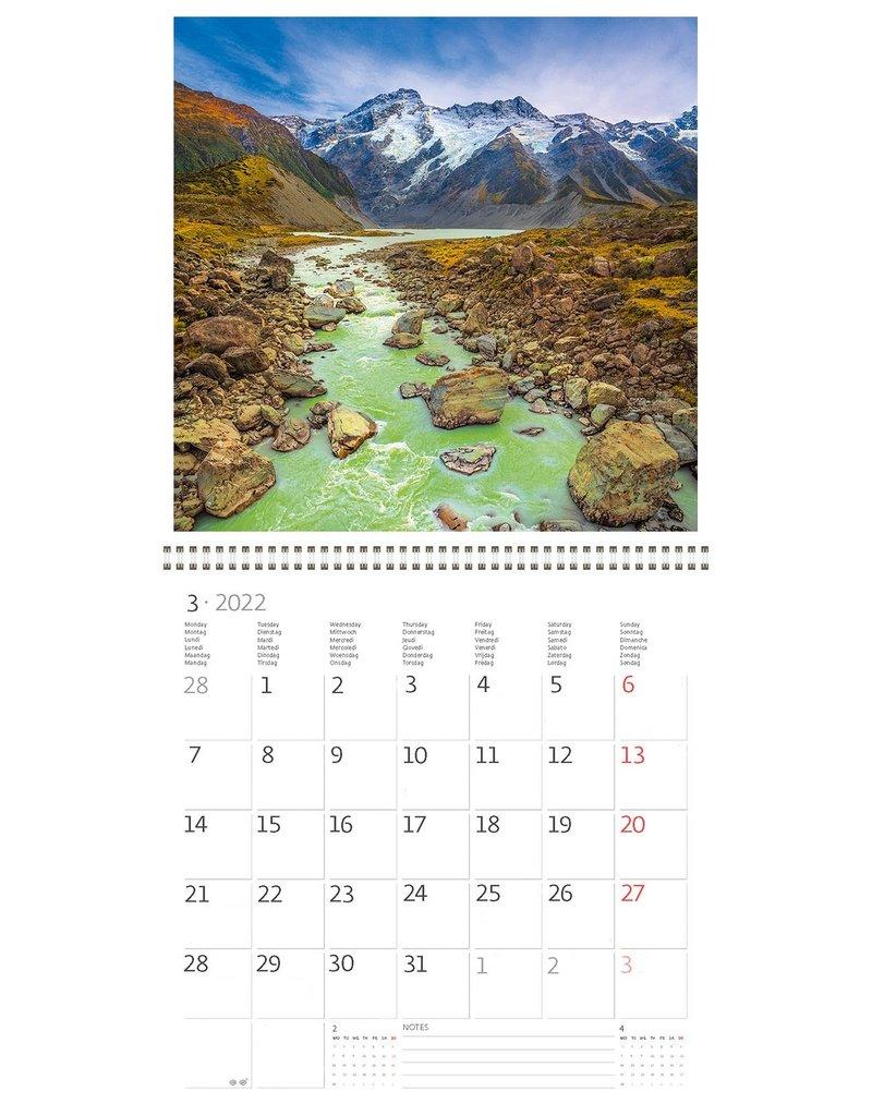 Helma Kalpa kalender 30 x 30 cm Nationale parken
