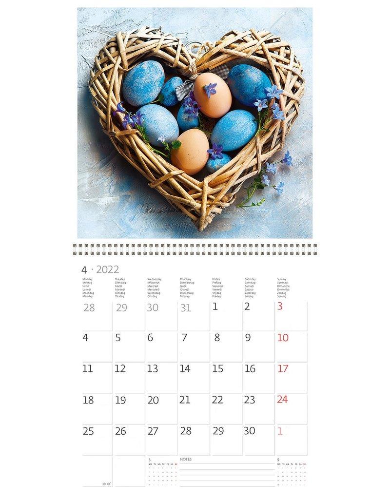 Helma Kalpa Calendar 30 x 30 cm Hearts