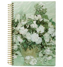 Kalpa D5346-2 Van Gogh Notebook spiral White Roses