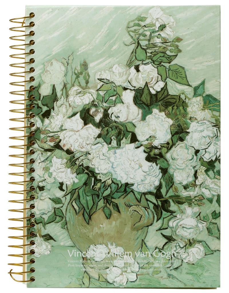 Kalpa Van Gogh Notitieboek spiraal Witte Rozen