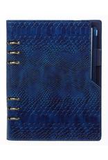 Kalpa Compact A5 organizer Croco Indigo