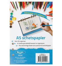 Kalpa 6407-01 A5 Refill Pack 60 sheet sketch paper + 12 transparant sheets