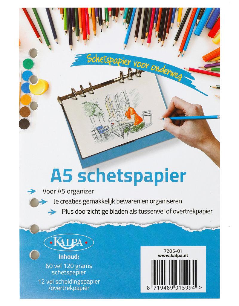 Kalpa Kalpa A5 Refill Pack 60 sheet sketch paper + 12 transparant sheets